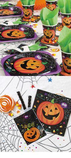 Un thème d Halloween citrouille parfait pour une déco d Halloween orange  pour enfant 3ec1bd43014