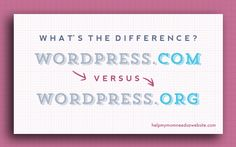 What is the difference between wordpress.com and wordpress.org (WordPress for beginners).