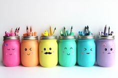 If you've ever seen my Instagram page you know I'm a huge fan of pens, pencils, markers, and all things rainbow. I'm always looking for beautiful ways to organize my art supplies, and mason jars are a great solution. And while I think this project is perfect for keeping your own art supplies in order, they'd also work great in a classroom or a kids' craft area.