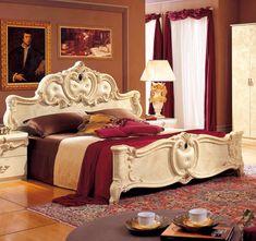 ESF Furniture Barocco Ivory 4 Pcs Queen Bedroom Set @ $2098