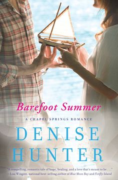 Barefoot Summer  by Denise Hunter ($9.99) http://www.amazon.com/exec/obidos/ASIN/B00B7QRAYU/hpb2-20/ASIN/B00B7QRAYU Denise Hunter is one of my favorite authors!!!I can't wait for the next book in series to come out. - The characters and story line were very enjoyable and believable. - Denise Hunter's Barefoot Summer is a touching love story.