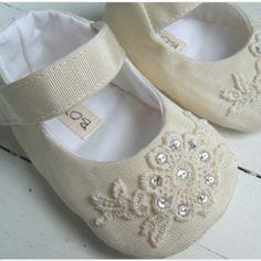 Shoes for little girl baptism