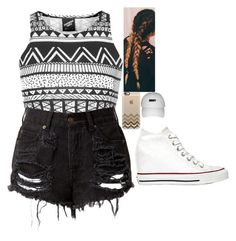 """""""Untitled #667"""" by lifeasgege ❤ liked on Polyvore featuring Illustrated People, Converse and Casetify"""