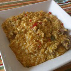 Arroz meloso de Presa Ibérica y Queso de Cabra para #Mycook http://www.mycook.es/receta/arroz-meloso-de-presa-iberica-y-queso-de-cabra/