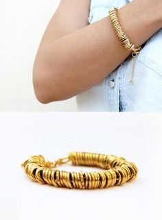 24K Gold Bracelet  Gold Plated Bracelet  Gold by SigalDesign
