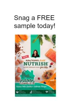 Snag a FREE sample of Rachael Ray Peak dry Cat Food or Rachael Ray Peak dry food for Dogs today! Just click Snag This now