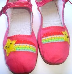 Starburst PinK Maryjanes Sz5 by HelloShoes on Etsy, $15.00