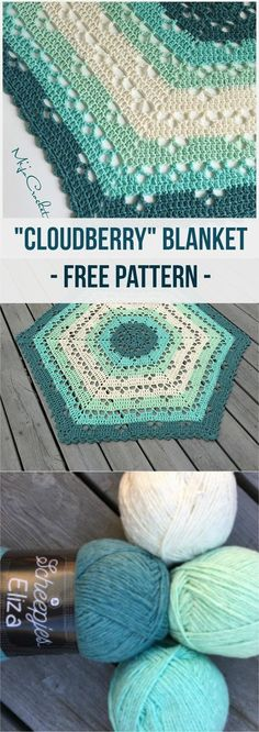 Cloudberry Blanket [Free Crochet Pattern] #crochet #blanket #crochetlove