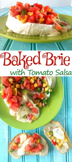 Baked brie with tomato salsa is a great way to spice up chips and dip. Salsa has Tomatoes, Avocado, corn, jalapeno, onions, cayenne pepper and lime. It is very easy to make. This is a quick dip recipe and goes great on Cinco De Mayo