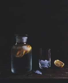 "Lemon Water by Linda Lomelino | ""Try as I may, is there any beverage better than lemon water? This artist captures the treat perfectly."" -MB."