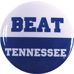 Beat Tennessee Button -- a true blue necessity! University Of Kentucky Football, Kentucky Athletics, Uk Football, Kentucky Wildcats, Go Big Blue, My Passion, Favorite Quotes, Favorite Things, Embedded Image Permalink
