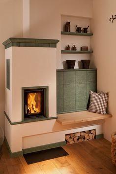Brunner tiled stoves with a flat disc Coffee in the morning, or hot chocolate with the kids – the HKD with oven bench from BRUNNER offe Style At Home, Small Tiny House, House Floor Plans, Cabana, Home And Living, Living Room, Home Interior Design, Room Inspiration, Home Accessories