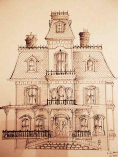 Phantom Manor Disneyland Paris sketch