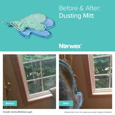 Fantastic results using the Norwex Dusting Mitt!