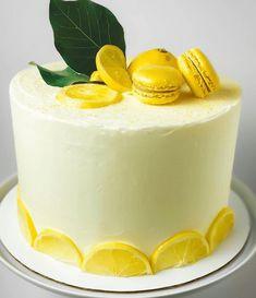 Lemon Cake Design Images (Lemon Birthday Cake Ideas) Lemon Wedding Cakes, Lemon Birthday Cakes, Yellow Birthday Cakes, Birthday Cake For Him, Birthday Ideas, Cake Designs Images, Cake Flour, Fancy Cakes, Cake Art