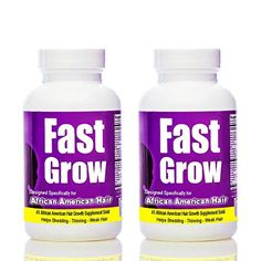 Fast Grow Ethnic Hair Growth Vitamins (2 Bottles) for Faster Growing Hair - Brought to you by Avarsha.com