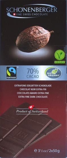Schönenberger 70%-Schokolade Bio & Fair
