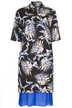 **Artichoke Floral Print Shirt Dress by Unique