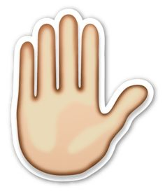 Raised Hand | EmojiStickers.com