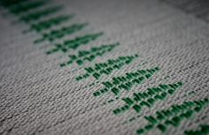 """I saw this pine trees pattern in the November/December 2009 Handwoven Magazine, page They were designed by Karen Tenney and called """"Ho. Weaving Tools, Weaving Projects, Hand Weaving, Weaving Designs, Weaving Patterns, Swedish Embroidery, Inkle Loom, Swedish Weaving, Weaving Textiles"""