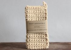 Chunky hand crocheted washcloth for a zero waste plastic free home and beauty routine