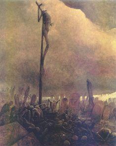 Beksinki. ¿En qué cabeza cabe crucificar a su dios?