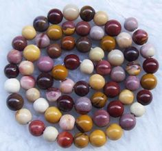 Mookaite beads... I love the many colors of Mookaite!