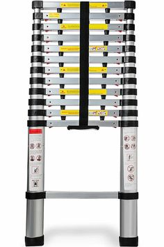 Aluminum Telescoping Ladder FT Professional Heavy Duty Extendable Telescope Light Weight Multi-Purpose - 330 LB Capacity - Products Lists of Tools and Hardware Rv Camping Accessories, Rv Accessories, Gifts For Rv Owners, Multi Purpose Ladder, Diy Camping, Camping Gear, Camping Hacks, Camping Style, Diy