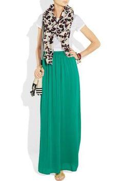 Mapale Greenish/blue V-neck Dress Women's Clothing M Handsome Appearance