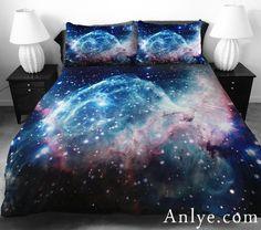 Galaxy Bedding Set,Galaxy Duvet Cover,Galaxy Sheet,galaxy Duvet Cover Set With Galaxy Pillowcase for Home Decor Galaxy Bedroom, Galaxy Bedding, Blue Bedding Sets, Colorful Bedding, Unique Bedding, Floral Bedding, Affordable Bedding, Bedroom Themes, Bedroom Sets