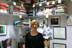 Before and After: Maeve's Method helps Kathryn to reduce her home office book collection.
