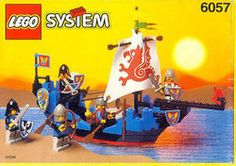 LEGO 6057 Sea Serpent instructions displayed page by page to help you build this amazing LEGO Castle set Gi Joe, Best Lego Sets Ever, Big Lego, Classic Lego, Lego Boxes, Lego Videos, Free Lego, Sea Serpent, Lego System