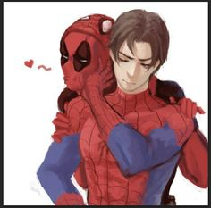 Spideypool Deadpool x Spiderman