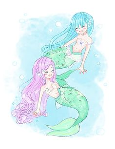 Cute Chibi Mermaids on Behance