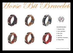 Leather bracelets with a bit by PARADE PERFECT WEAR Horse Bits, Leather Bracelets, Equestrian, Dark Brown, Blue Grey, Burgundy, Wedding Rings, Engagement Rings, How To Wear