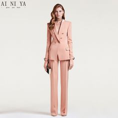 2a7d0226ddaf Find More Pant Suits Information about Custom Made 2018 Women Business Suits  Double Breasted Female Office
