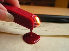 sealing wax. making letters look cool since the 16th century.