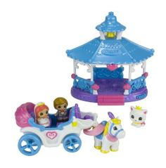 """Blip Squinkies Wedding Gazebo And Carriage Playset by Blip Toys - Import. $16.06. Have a bunch of fun with your friends. Squinkies - the hottest toy around. After the ceremony, the couple ride away in their """"Just Married"""" wedding carriage. 100's of squinkies to collect. Collect them all. From the Manufacturer                It's happily ever after for Squinkies in love. Squinkies bride and groom say """"I Do"""" in the beautiful wedding gazebo as they twirl on the spining da..."""