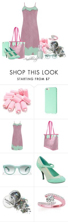 """""""All she need for a perfect day"""" by annabellerockz ❤ liked on Polyvore featuring J.Crew, T.U.K., Allurez, Essie and annabellerockz"""