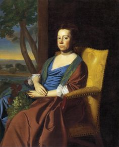 1769 Copley-Mrs Isaac Smith:Wrapping gown/wrapper, sheer shift ruffles