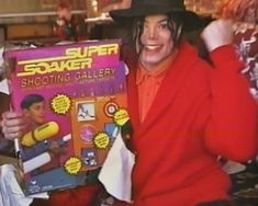 Michael Jackson with his Super Soaker.