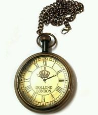 Dollond london 1920 antique pocket watch with chain