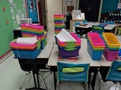 Great ideas for the beginning of the school year! So organized and a beautiful room.