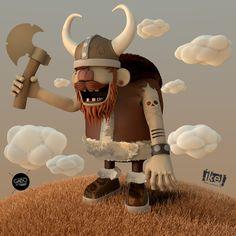 Go vikings by Joel Velasco, via Behance
