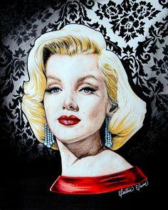 Marilyn by ~ElectricElaine on deviantART | This image first pinned to Marilyn Monroe Art board, here: http://pinterest.com/fairbanksgrafix/marilyn-monroe-art/ || #Art #MarilynMonroe