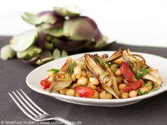 Fagiolo Zolfino (Schwefelbohnen) mit Tomaten und Artischocken | Fagiolo Zolfino, Tomatoes, Artichokes