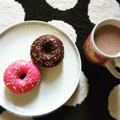 Mmm mint donuts and coffee