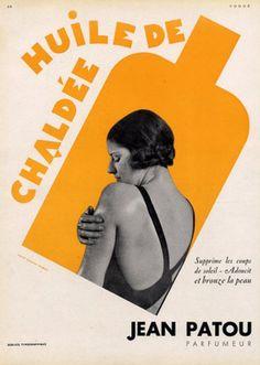 Jean Patou sun oil (?), 1930