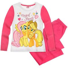 Make bedtime more fun with this cute My Little Pony pyjama set featuring a large Applejack and Fluttershy print. Fast & Free delivery! International delivery!