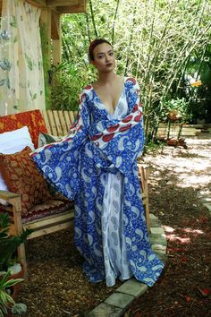 100% Cotton Robe Bridal Lingerie Honeymoon by SarafinaDreams
